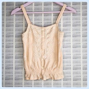 American Eagle Embroidered Peach Tank